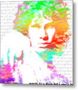 Jim Morrison Artwork Metal Print