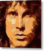 Jim Morrison - Digital Art Metal Print