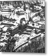 Jim Thorpe Pennsylvania In Winter In Black And White Metal Print