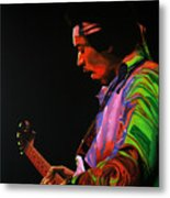 Jimi Hendrix 4 Metal Print