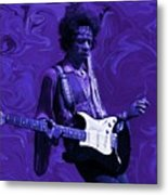 Jimi Hendrix Purple Haze Metal Print