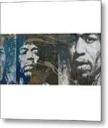 Jimi Hendrix Triptych Metal Print