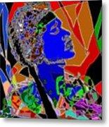 Jimi In Heaven Colorful Metal Print by Navo Art