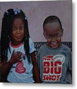 Jimia And Mr Bigshot Metal Print