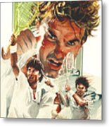 Jimmy Connors Metal Print