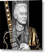 Jimmy Page Drawing Metal Print