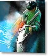 Jimmy Page Lost In Music Metal Print