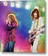 Jimmy Page - Robert Plant Metal Print