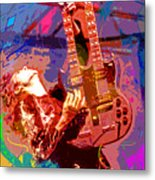 Jimmy Page Stairway To Heaven Metal Print by David Lloyd Glover