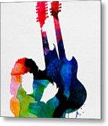 Jimmy Watercolor Metal Print