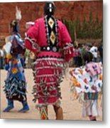 Jingle Dress And Fancy Shawl Dancers Metal Print