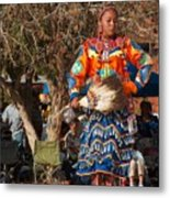 Jingle Dress Dancer At Star Feather Pow-wow Metal Print