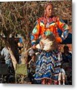 Jingle Dress Dancer At Star Feather Pow-wow Metal Print