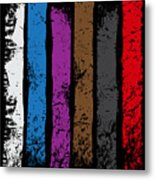 Jiu Jitsu Design United Belts Of Jiu Jitsu Vertical Light Martial Arts Metal Print