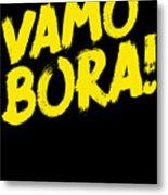 Jiu Jitsu Design Vamo Bora Yellow Light Martial Arts Metal Print
