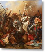Joan Of Arc In The Battle Metal Print