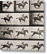 Jockey On A Galloping Horse Metal Print