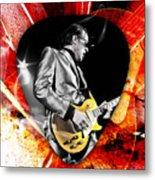 Joe Bonamassa Blue Guitar Art Metal Print
