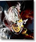 Joe Bonamassa Blue Guitarist Metal Print