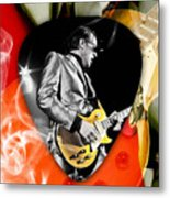Joe Bonamassa Blues Guitar Art Metal Print