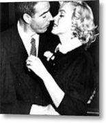 Joe Dimaggio, Marilyn Monroe Metal Print