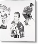 Joe Sakic Metal Print