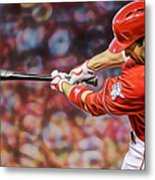Joey Votto Baseball Metal Print