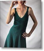 Johanne In Green Metal Print