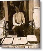 John A. Coffer  Traveling Tintype Photographer  Tombstone Arizona 1980-2009 Metal Print