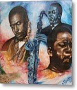 Blaa Kattproduksjoner     John Coltrane - Jazzed  Metal Print