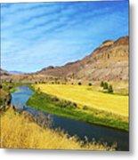 John Day River Panoramic View Metal Print