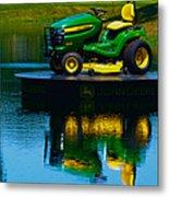 John Deere Mows The Water No 2 Metal Print