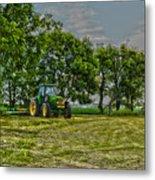 John Deere Tractor At Dusk Metal Print