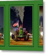 John Deere Tractor Pull Poster Metal Print