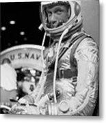 John Glenn Wearing A Space Suit Metal Print