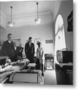 John Kennedy And Others Watching Metal Print