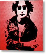 John Lennon - Imagine - Pop Art Metal Print
