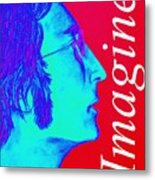 Imagine John Lennon In Profile Metal Print