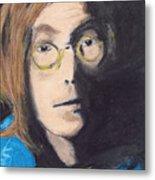 John Lennon Pastel Metal Print