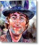John Lennon Portrait Metal Print