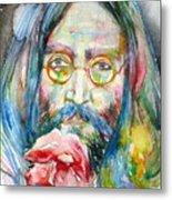 John Lennon - Watercolor Portrait.9 Metal Print