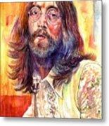 John Lennon Watercolor Metal Print