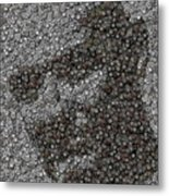 John Locke Dharma Button Mosaic Metal Print