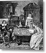 John Milton Dictating Paradise Lost Metal Print