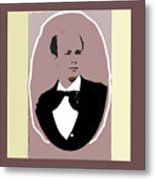 John P. Clum Portrait C. 1870 Metal Print