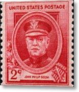 John Philip Sousa Postage Stamp Metal Print