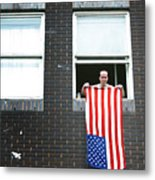 John Waves His Flag 3 Metal Print
