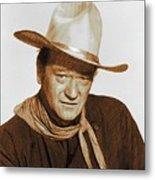 John Wayne, Hollywood Legend Metal Print