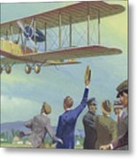 John William Alcock And Arthur Whitten Brown Who Flew Across The Atlantic Metal Print