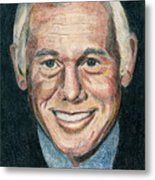 Johnny Carson Metal Print by Michael Lewis